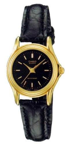 Casio Women's Leather Strap watch #LTP-1096Q-1A