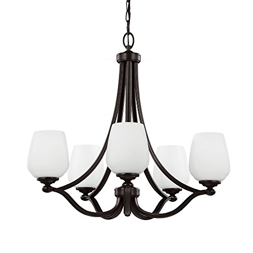 Sea Gull Lighting F2960 5HTBZ Vintner Five Light Chandelier, Heritage Bronze