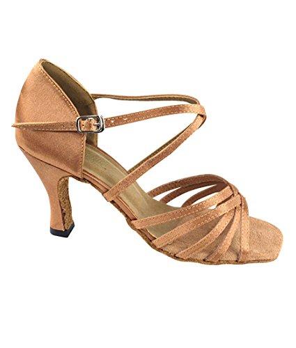 Fines Danse Pour Paquet 2 1613 5 Tango Talon Femmes De Brosse Latine Dansant Brun Pouces Très Chaussures Pliage wA5tq0Tx