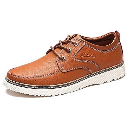 Azul Cuero 6 7 UK tamaño Hombres tamaño 5 HhGold cómodos Hombre US para de 5 Color para 7 Casuales 5 Negro 5 Zapatos Marrón US Zapatos 6 Color de Hombres UK pnwtOq