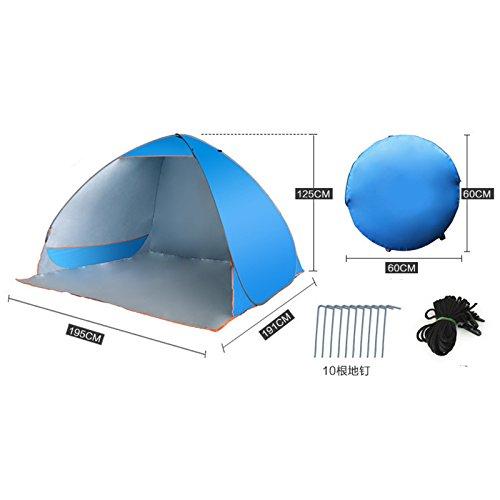 TY WJ Famille Tentee De Camping Sandy Parasol Voyage Tentees Dôme  Entièrement Automatique Ombre Ouverture Rapide Plein a4ac5885569