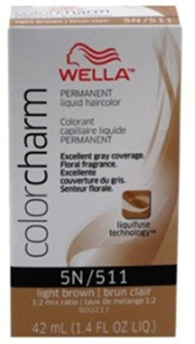 Color Charm Liquid (Wella Color Charm Liquid Haircolor 511/5N Light Brown, 1.4 oz (Pack of 5))
