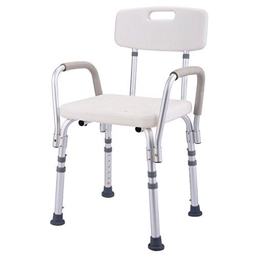 Giantex 6 Height Adjustable Medical Shower Chair Stool Bath Tub