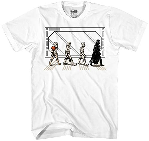 Star Wars Death Star Road Stormtrooper Crossing Mens T-Shirt (Small, White) (All Star Mens T-shirt)