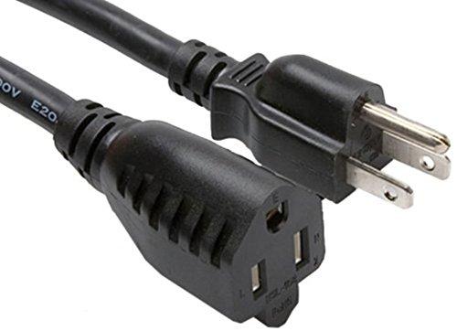 C&E Power Extension Cord 18AWG, Black, NEMA 5-15P to NEMA 5-15R, 10 Amp, 10 Feet