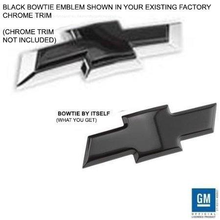 Billet Bowtie Front Insert Emblem - Black 14-15 Silverado 1500, 15-18 2500HD/3500HD Regular Cab/Double Cab/Crew Cab