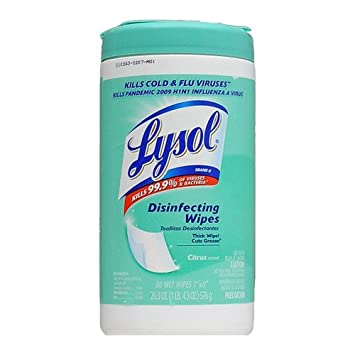 Lysol Disinfecting Wipes Citrus/ Lime Blossom Scent, 80 ct
