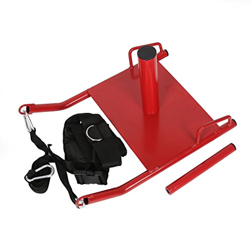 7BLACKSMITHS Power Speed Sled w/Harness&Padded Weighted Drag Sport Crossfit Training Running Football Sled for Fitness Strength Training and Athletic Exercise