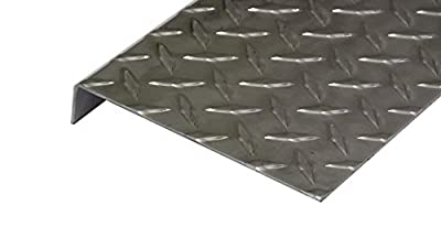 Aluminum Diamond Plate Door Threshold .062 x 1 x 6 x (Choose Length) w/Out Screws and Holes   (1/16 x 1 x 5) UAAC