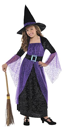 Children's Pretty Potion Witch Costume Size Medium (8-10) (Witch Girl Costume)