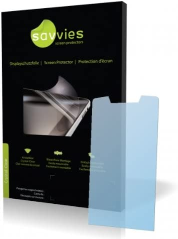 Display Protection Film Protective Film 100/% fits Savvies Crystalclear Screen Protector for Elson EL 680