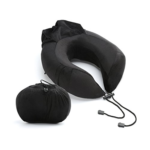 Sicotool Travel Pillow,Top Rated Luxurious Memory Foam Neck Pillow-Best Neck Pillows for Airplane, Car & Train Travel - Perfect for Home Use & Camping,The Best Neck Pillow with 360 Head & Neck Support Entertainment Companion Table