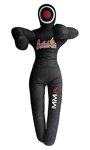 "Celebrita MMA Grapplng Dummy Jiu Jitsu Judo Punching Bag unfilled - Standing open hands MMA344 Black 59"" Up to 45kg/99 lb"