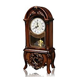 LANNA-CL European Vintage Retro Mantel/Mantle Rhythm Clock with Pendulum Movement