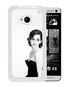Emma Watson In Black Dress (2) Durable High Quality HTC ONE M7 Phone Case