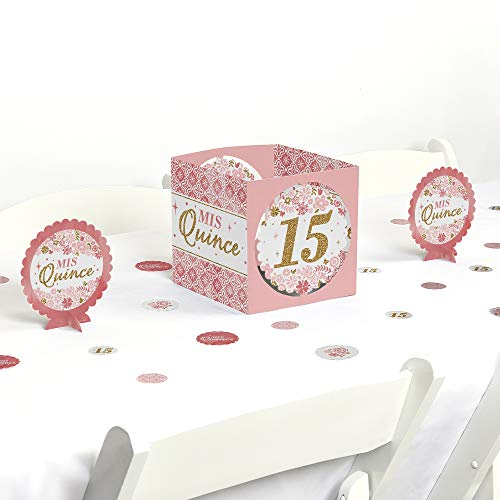 Big Dot of Happiness Mis Quince Anos - Quinceanera Sweet 15 Birthday Party Centerpiece and Table Decoration Kit -
