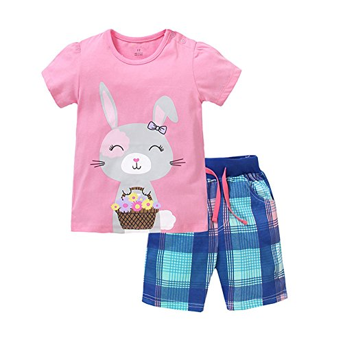 School Girl Outfit For Sale (Jobakids Little Girls Short Set Summer Cotton Clothing set)