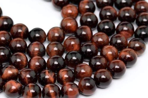 8mm Natural Mahogany Red Tiger Eye Beads Grade Round Loose Beads 15.5'' Crafting Key Chain Bracelet Necklace Jewelry Accessories Pendants ()