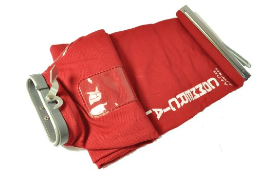 Eureka Sanitaire Red Twill Cloth Shake Out Bag with Top Metal Slide and Spring E-54582-1 ()