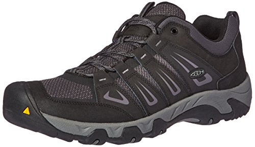 KEEN Men's Oakridge Hiking Shoe, Black/Gargoyle, 17 M US 1015315