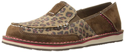Ariat Women's Cruiser Slip-on Shoe, Dark Earth/Cheetah, 5.5 B US