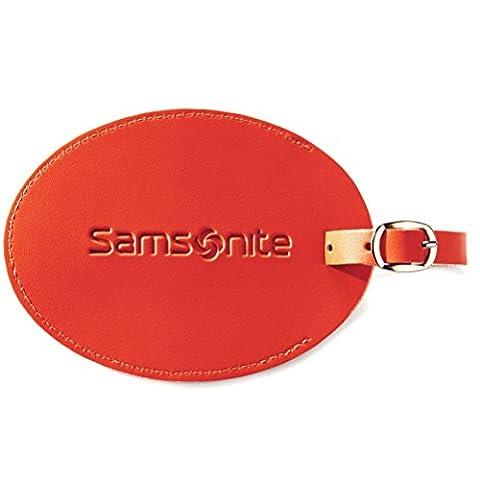 Samsonite Large Vinyl Id Tag, Juicy Orange - En Route Luggage Tag
