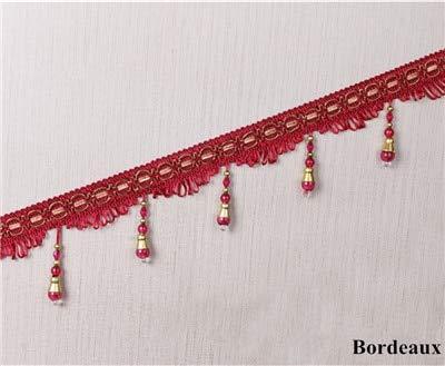 Bordeaux Lamp - Isali 12M/lot Beads Curtain Tassel Fringe Lace Trim DIY Sew Sofa Stage Lamp Lace Ribbon Belt Curtain Accessories Home Decor - (Color: Bordeaux)