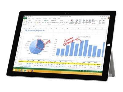 Microsoft Surface 3 10.8-Inch Tablet (WiFi + 4G LTE Unlocked, 1.60 GHz Intel Atom x7-z8700, 4GB RAM, 128 GB SSD, Windows 10), Silver
