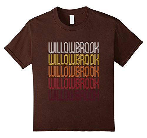 Kids Willowbrook, IL   Vintage Style Illinois T-shirt 10 - Shop Willowbrook
