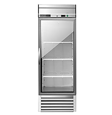 Maxx Cold MXSR-23GD One 1 Glass Door Reach-In Upright Commercial NSF Refrigerator Cooler - ENERGY STAR