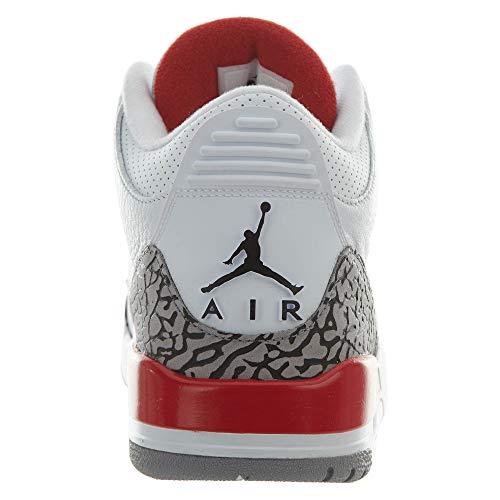 42 Basketballschuhe Weiß Katrina Leder Retro Air Herren 5 Jordan 3 NIKE wHU6pq