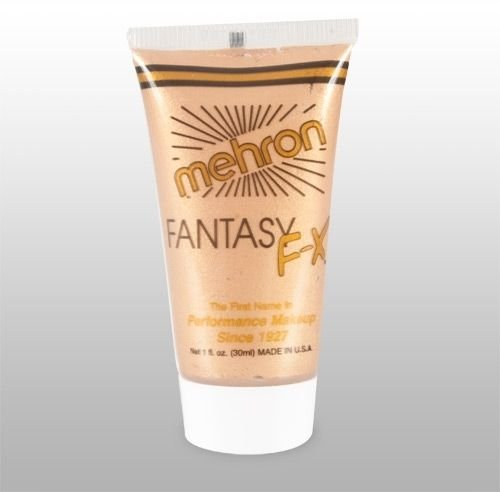 Collor Glod >> Mehron FFX Fantasy F/X Costume Makeup - 1 oz. Tube - Halloween or Face Painting (Aqua Contact Lenses)