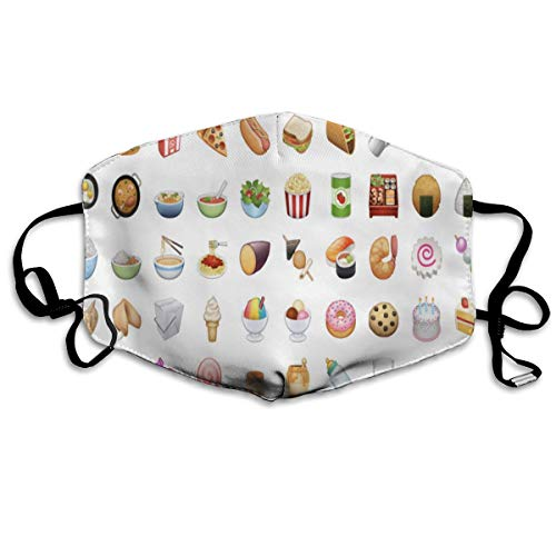 Anti Dust Mask Food Emoji Face Mouth Cover Winter Healthy Warm For Men Halloween ()