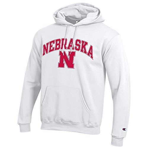 Elite Fan Shop Nebraska Cornhuskers Hooded Sweatshirt Varsity White - M ()