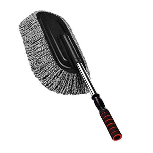 Rosa Schleife Retractable Microfiber Dust Cleaning, Detachable Car Washing Brush Dusting Telescopic Handle Static Waxing Dust Mop Auto Cleaning Duster Removable Wax Brush