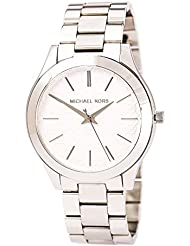 Michael Kors Womens Slim Runway Japanese Quartz Movement Stainless Steel Watch, Color Silver-Toned (Model:...