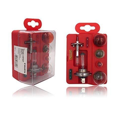 Coffret Ampoule H1-H7 12 Volt 3 fusibles WURTH 4 ampoules