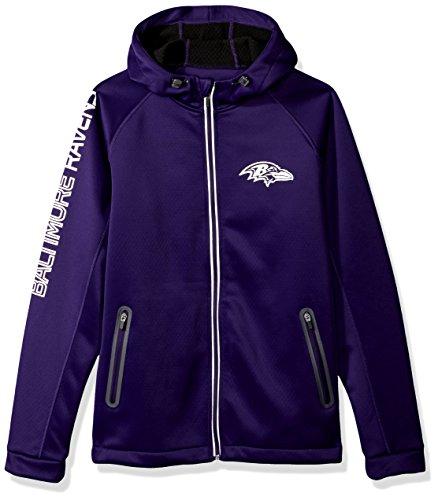 G-III Sports by Carl Banks Adult Men Motion Full Zip Hooded Jacket, Purple, Medium (Ravens Jacket)