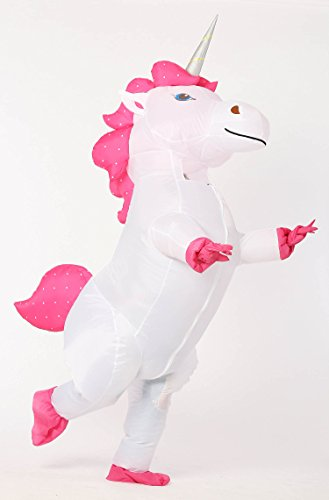 Go Sale Now ! Unicorn Costume Horn Horse Inflatable Suit