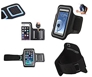 DFV mobile - Armband Professional Cover Neoprene Waterproof Wraparound Sport with Buckle for => BlackBerry Q5 > Black