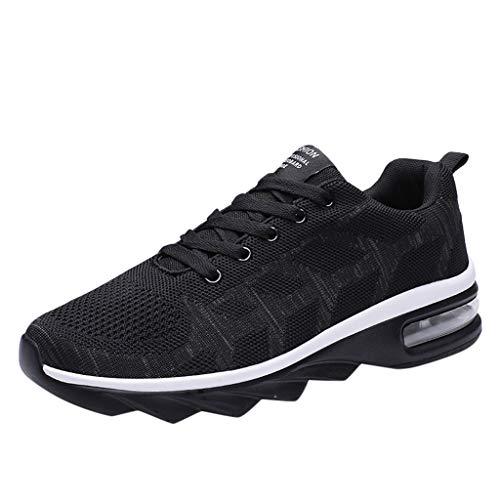 COPPEN Men Walking Sport Shoes Leisure Athletic Mesh Sneakers Breathable Lightweight Black