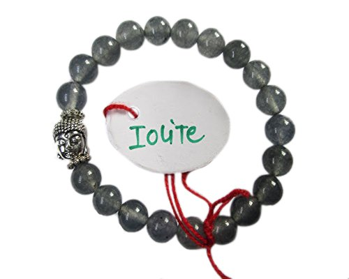 Chips Gemstone Bead Silver Necklace (WholesaleGemShop - Iolite 8 mm Bead Buddha Bracelet)