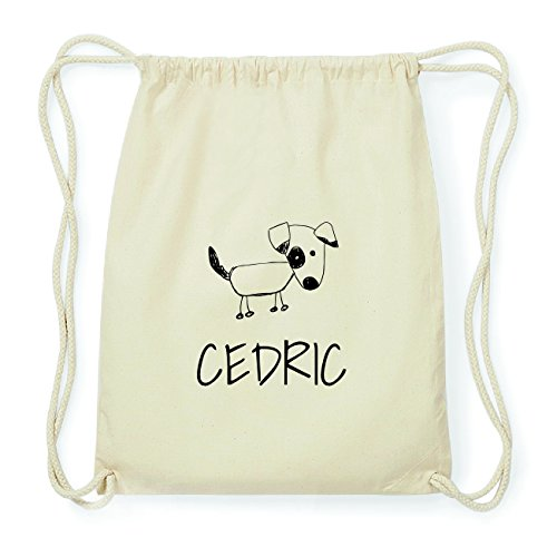 JOllipets CEDRIC Hipster Turnbeutel Tasche Rucksack aus Baumwolle Design: Hund 4zcGA
