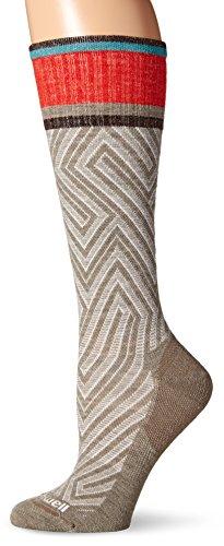 Sockwell Women's Labyrinth Graduated Compression Socks-Ideal for-Travel-Sports-Nurses-Pregnancy-Reduces Swelling, Khaki, Medium/Large