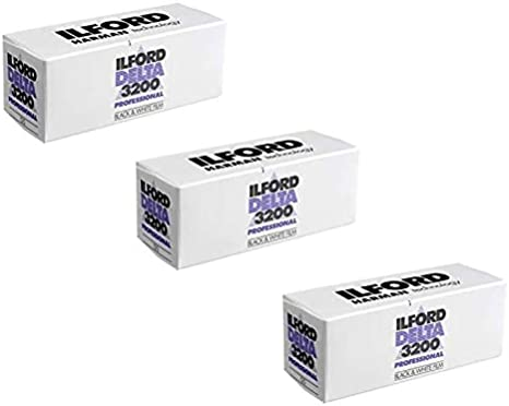 Ilford Delta 400 Black and White 120 Film Pack of 3 rolls