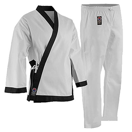 "ProForce 8oz Medium Weight Tang Soo Do Uniform - Black - Size 0 (4'6"" / 85lbs)"