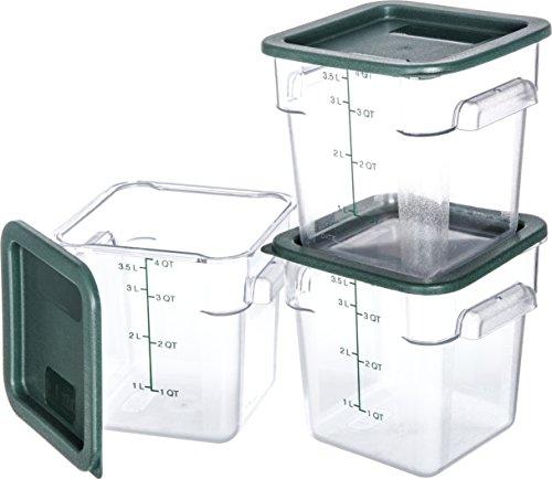 Carlisle 10721-307 Plastic Square Food Storage Container wit