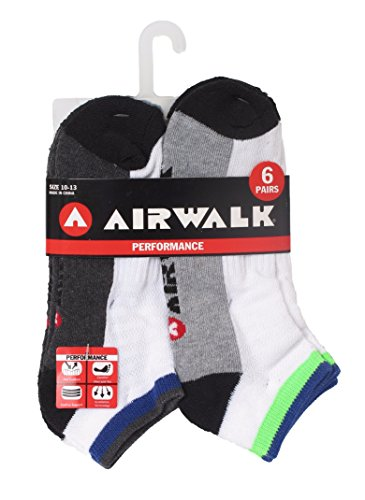 airwalk-mens-performance-6-pack-low-cut-athletic-ankle-socks-size-10-13-color-trim