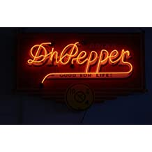 18 x 24 Art Canvas Print of 1940s neon Dr Pepper sign at the Dublin Bottling Works and W.P. Kloster Museum in Dublin Texas r23 41887 by Highsmith, Carol M.
