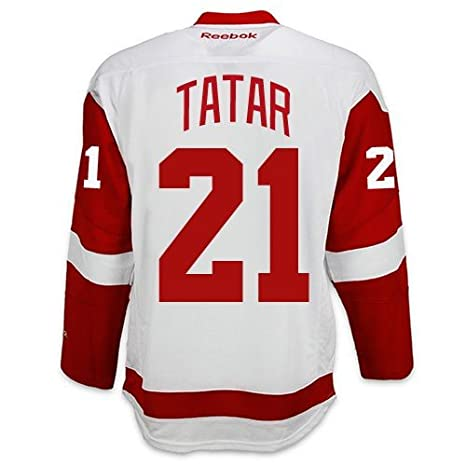 2d9d42343e7 Amazon.com : Tomas Tatar Detroit Red Wings Road Jersey by Reebok - SEWN  TACKLE TWILL NAME/NUMBER : Sports & Outdoors